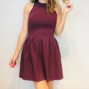 lululemon athletica Dresses - RARE Lululemon maroon here to there pleated dress